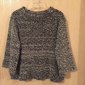Vince Camuto Sweater | Size Large | Black & White